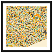 Load image into Gallery viewer, Detroit Map Art Print