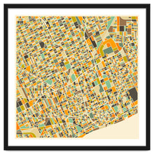 Load image into Gallery viewer, Explorations-SFI: Detroit Map Art Print