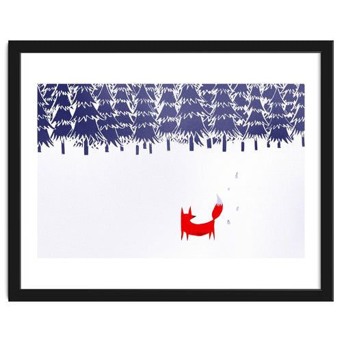 Alone In The Forest Framed Artwork