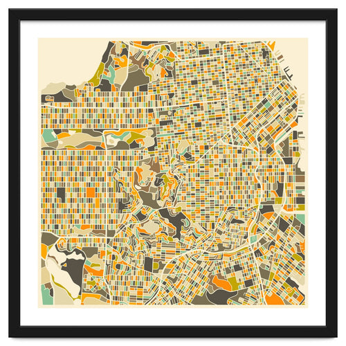 San Francisco Map Framed Artwork
