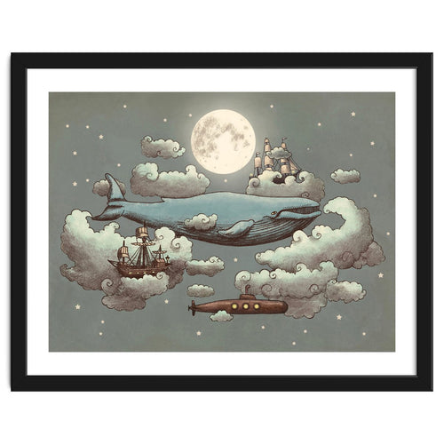 Ocean Meets Sky Framed Artwork