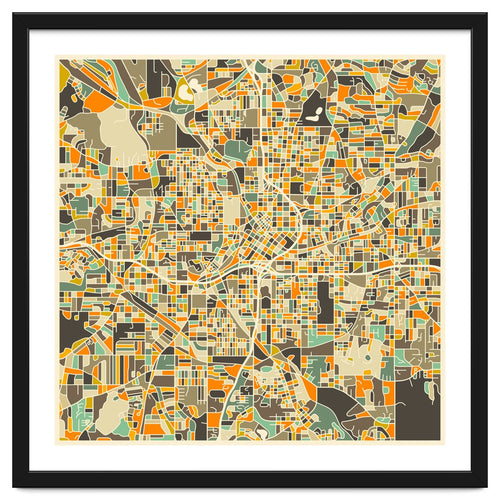 Atlanta Map Framed Artwork