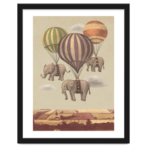 Flight Of The Elephants Framed Artwork