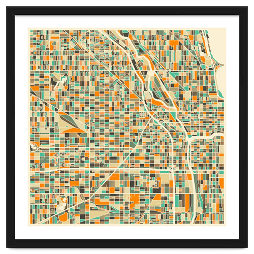 Chicago Map Framed Artwork