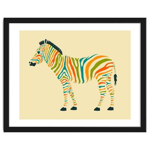 Explorations-SFI: The Zebra Framed Artwork
