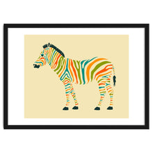 Load image into Gallery viewer, Explorations-SFI: The Zebra Framed Artwork