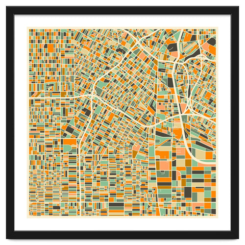 Los Angeles Map Framed Artwork