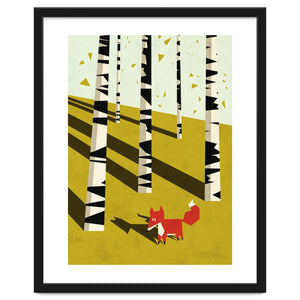 Explorations-SFI: Fox In Birchland Framed Artwork