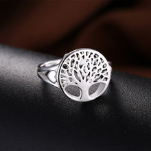 Load image into Gallery viewer, Explorations-SFI: Tree of Life Ring in 18K White Gold Plated