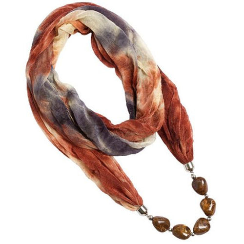 Explorations-SFI: Hippie Earth-Tone Scarf Necklace