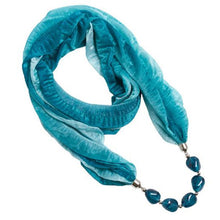 Load image into Gallery viewer, Explorations-SFI: Hippie Earth-Tone Scarf Necklace