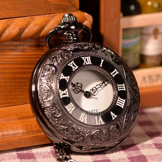 Classic Black Pocket Watch