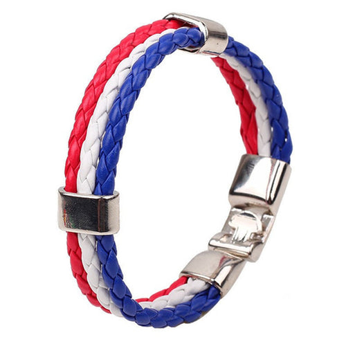 Explorations-SFI: Team USA Flag Bracelet
