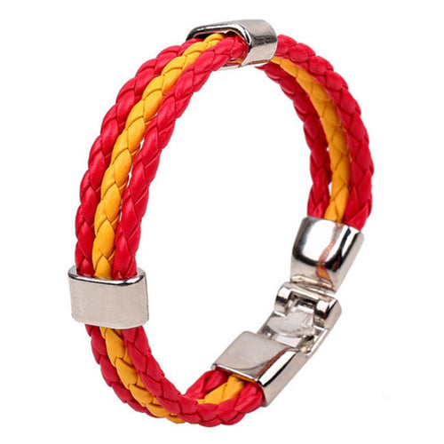 Explorations-SFI: Team Spain Flag Bracelet