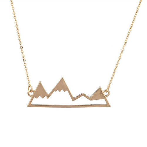 Top Of The Mountain Snowboard Ski Winter Pendant Necklace