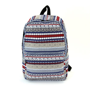 Elephant Trim Backpack in Canvas Material