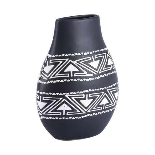 Explorations-SFI: Zuo Kolla Small Vase Black & White