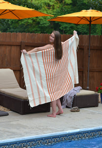 Beach & Bath-Orange Cream (Hand Loomed)