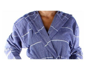 Loomed Turkish Towel Hooded Robe (Bath & Beach Cover)