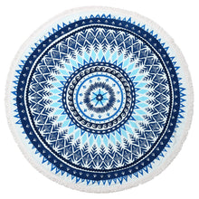 Load image into Gallery viewer, Round Towel-Terry-Blue