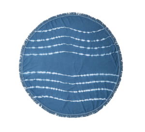 Round Towel-Blue Ocean Waves
