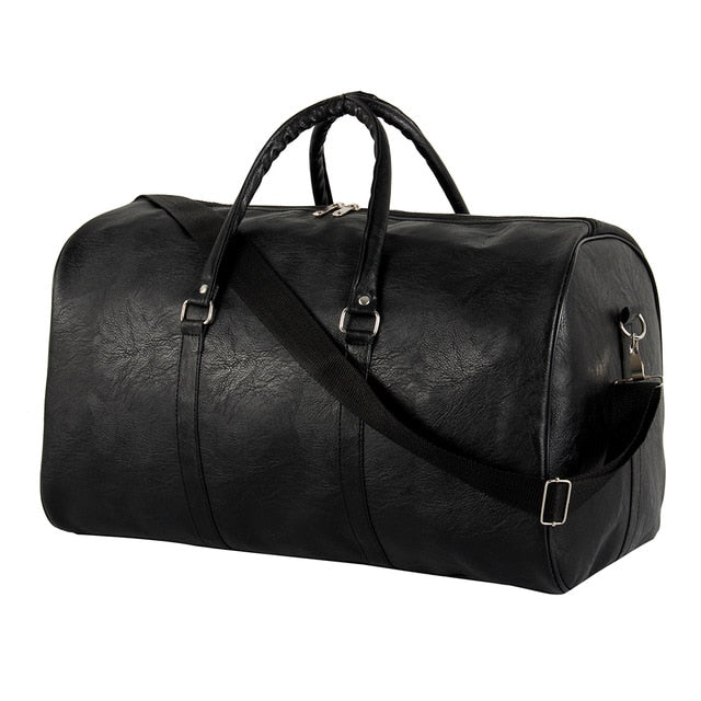 Unisex PU Leather Travel Duffle Bag