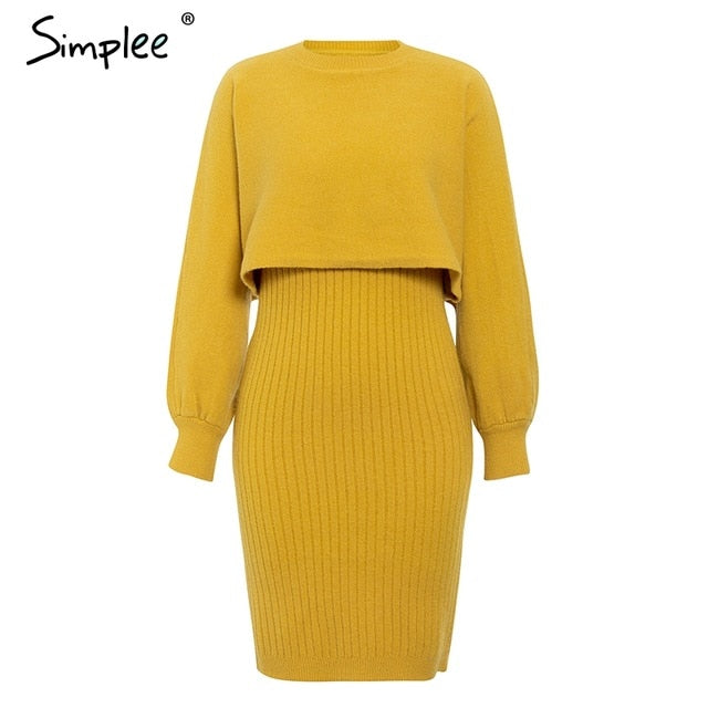 Women's Elegant Knitted 2 Piece