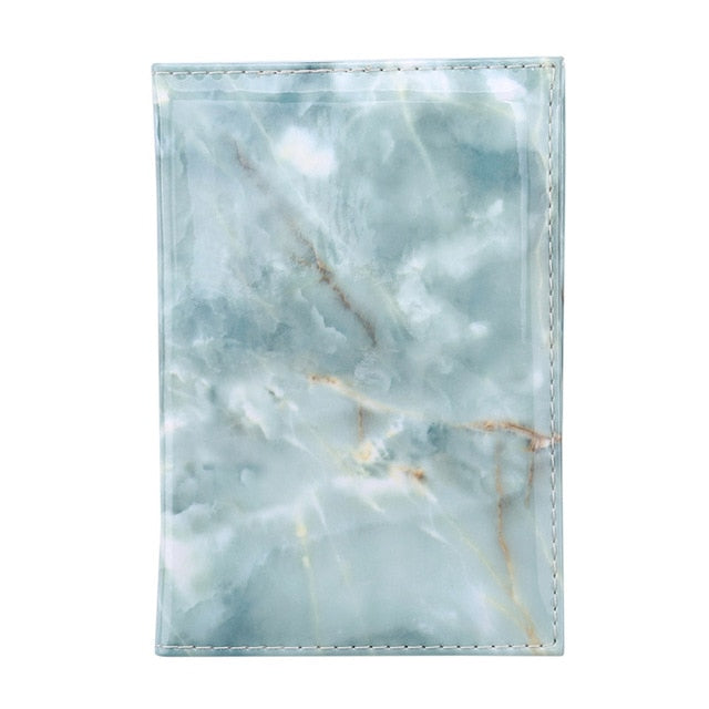 Womens Waterproof Marble Style Passport cover