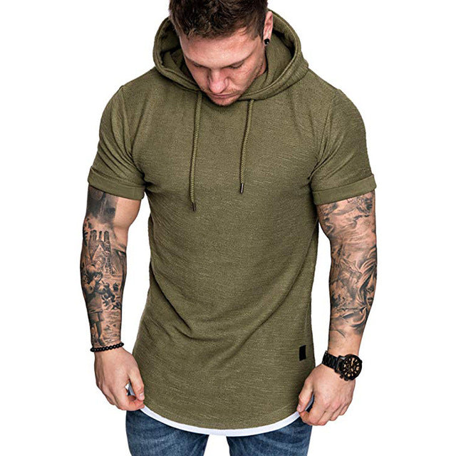 Men's Summer Slim Fit Casual Sleeveless Hoody
