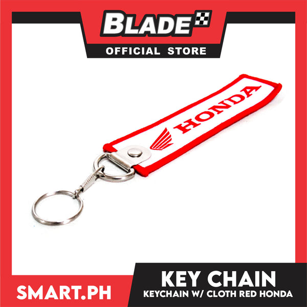 Keychain Cloth Tag Honda Red and White