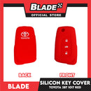 Key Silicon Case Toyota 3 Button 1017 Red/ Black