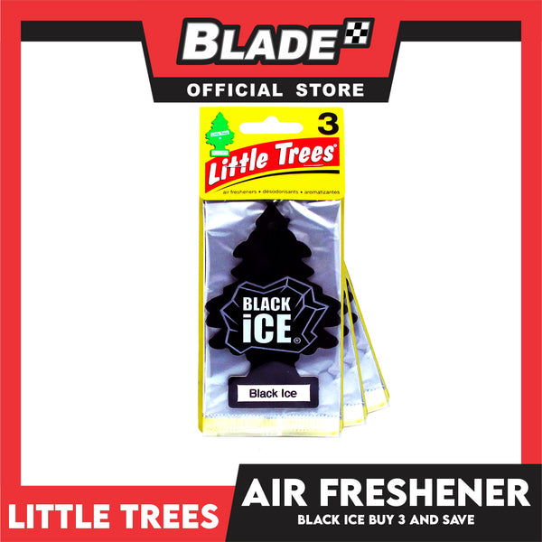 Little Trees Car freshener U3S-32055 (Black Ice) Set of 3