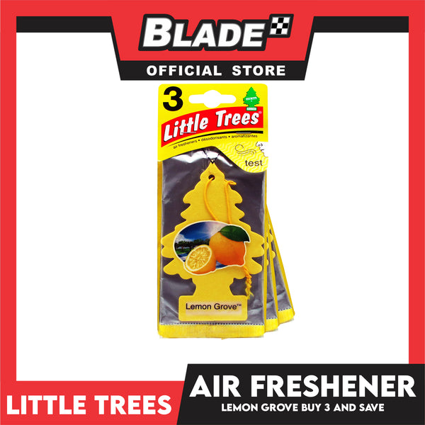 Little Trees Car freshener U3S-32094 (Lemon Grove) Set of 3