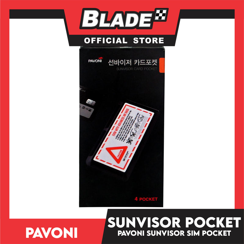 Pavoni Sunvisor Card Pocket (4 Pocket)