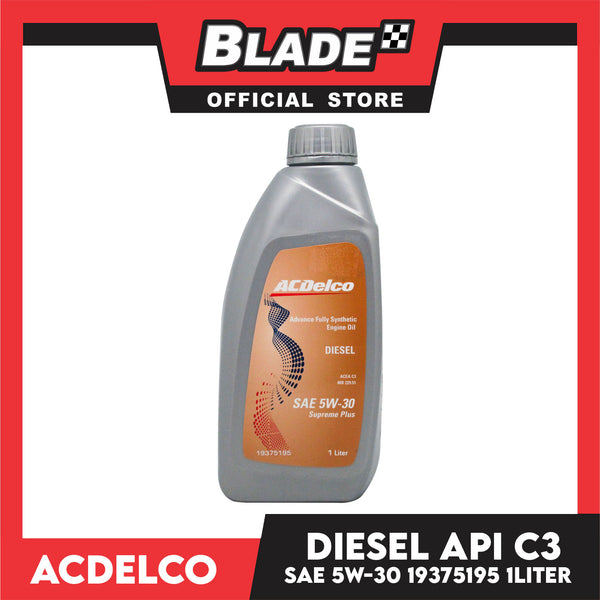 ACDelco Advance Fully-Synthetic Engine Oil Diesel SAE 50W-30 Supreme Plus 19375195 1Liter