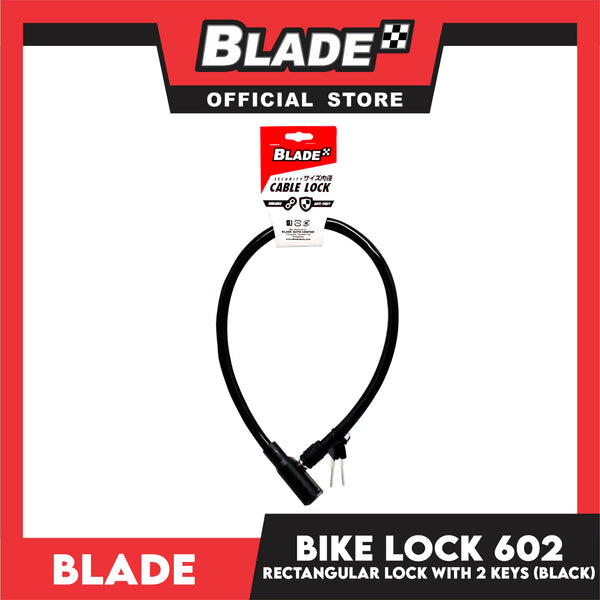 Blade Bike Lock 602 Rectangular Lock with 2 Keys (Black)