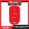 Blade Silicone Case key Cover Honda (Black & Red) 5 Button for Honda