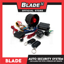 Blade Car Alarm W29 Auto Security Keyless Entry System with 2 Remote Controls & Siren Sensor- 12V Universal Remote Auto Door Lock/Unlock