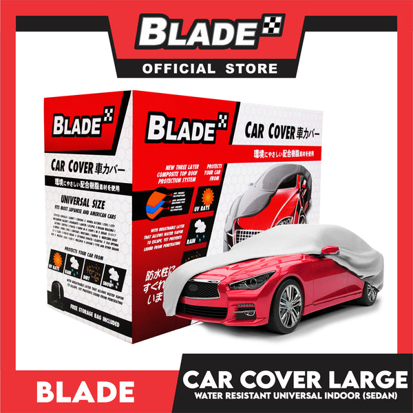 Blade Car Cover Water Resistant Large (Grey) Indoor Dustproof, UV Resistant Cover, Scratch Resistant & Breathable