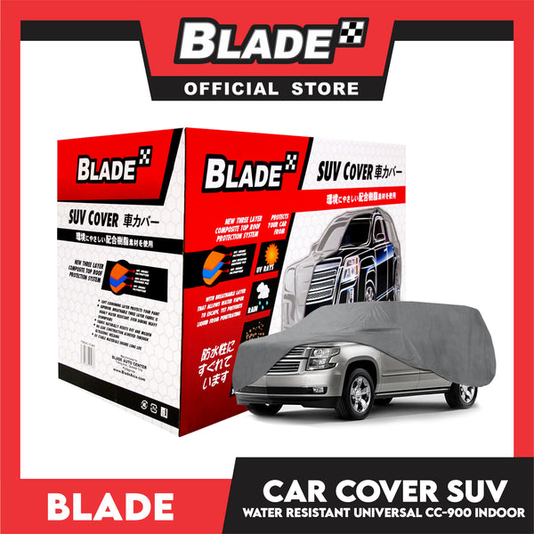 Blade Car Cover Water Resistant SUV (Grey) Indoor Dustproof, UV Resistant Cover, Scratch Resistant & Breathable