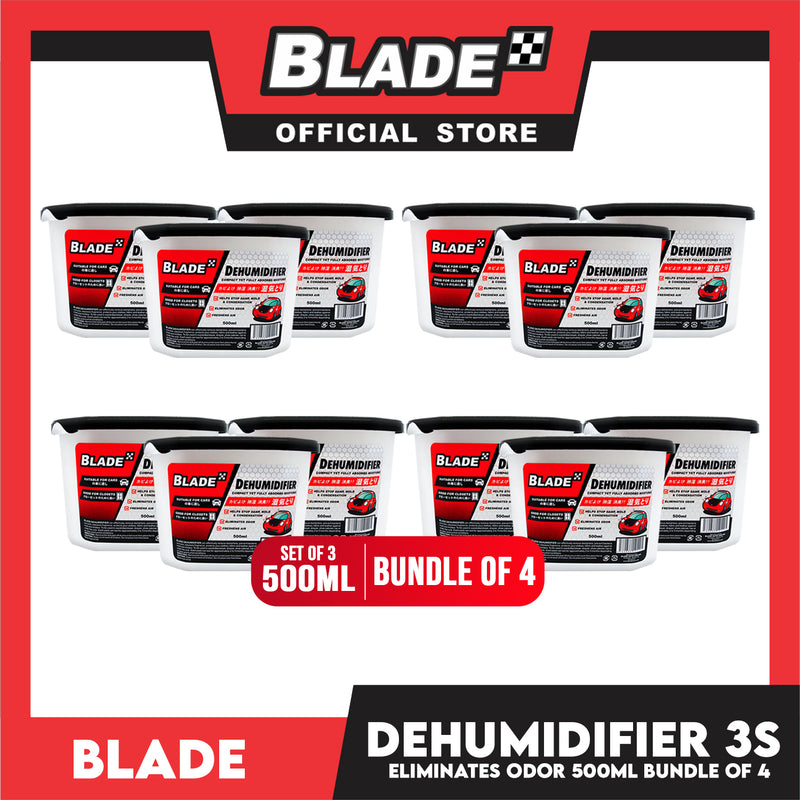 Blade Dehumidifier 500mL Set of 3 (Bundle of 4)