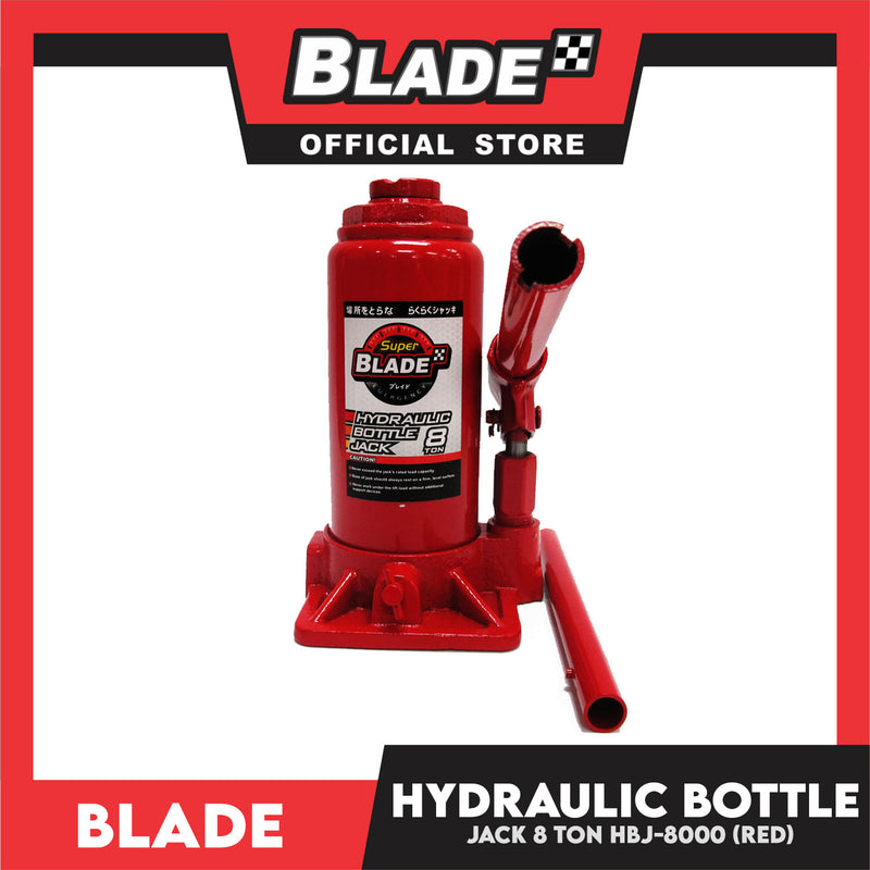 Blade Hydraulic Bottle Jack 8 Ton (Red) for Toyota, Mitsubishi, Honda, Hyundai, Ford, Nissan, Suzuki, Isuzu, Kia, MG and more