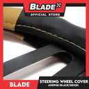 Blade Steering Wheel Cover AN8908 (Black/Tan)