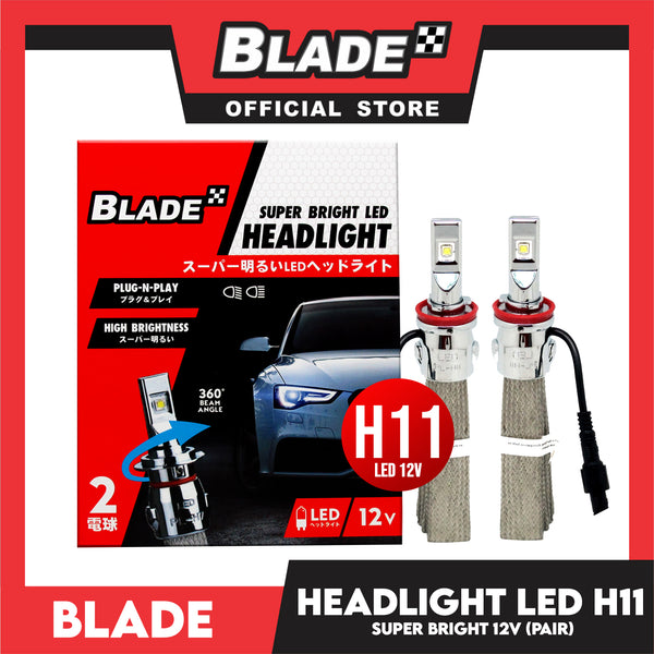 Blade Super Bright LED Auto Headlight H11 12V (Pair) Headlight Lamps, Fog Lamps, Led Light