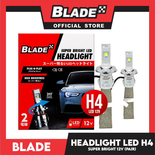 Blade Super Bright LED Auto Headlight H4 12V (Pair) Headlight Lamps, Led Light
