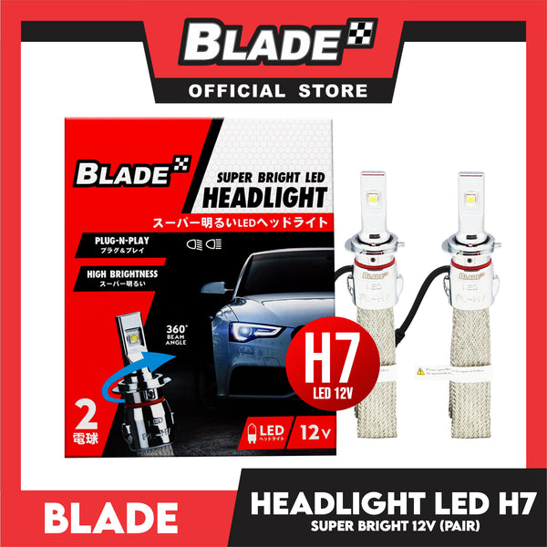 Blade Super Bright LED Auto Headlight H7 12V (Pair) Headlight Lamps, Led Light