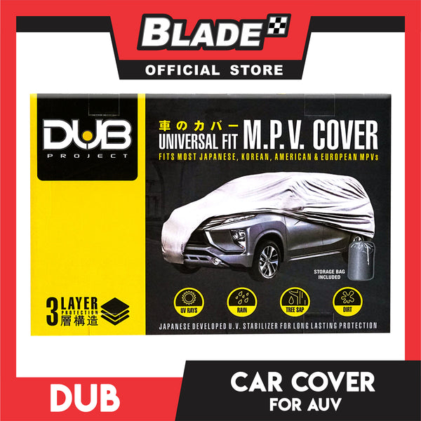 Dub Car Cover Water Resistant AUV for Toyota Innova, Revo, Mitubishi Adventure, Ford Escape, Honda CRV and other M.V.P. vehicles