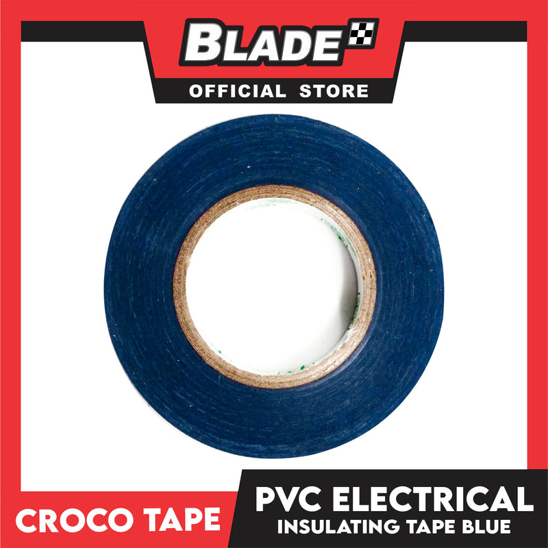 Croco Tape Flame Retardant PVC Electrical Insulating Tape 19mm x 16m Bundle of 12 (Blue)