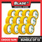 Croco Tape Flame Retardant PVC Electrical Insulating Tape 19mm x 4m Bundle of 12 (Yellow)