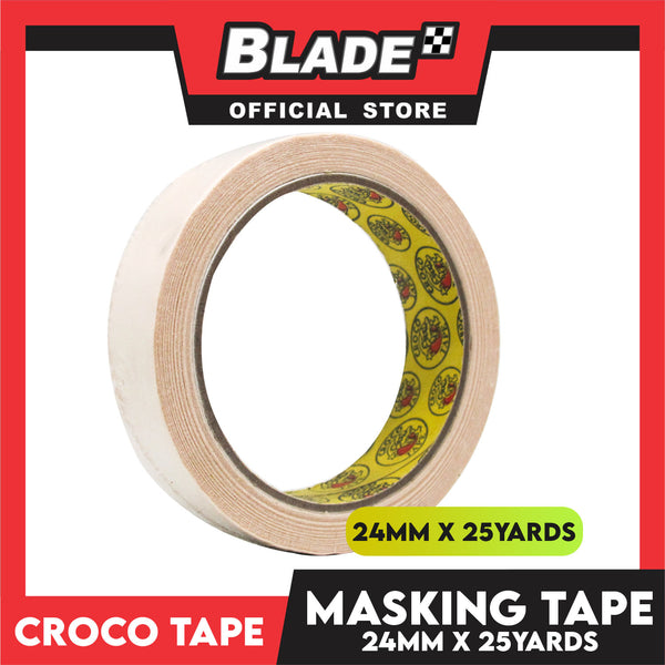 Croco Tape Masking Tape 24mm x 25yards (Beige) General Purpose for Home and Office use